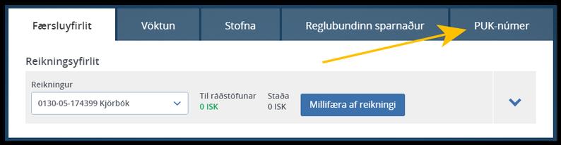 Sækja PUK númer Landsbanki mynd 02